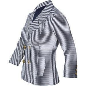 NEW CABI Womens Striped Nautical Jacket Small